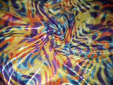 """Multi Animal Skin Print Hologram Micro Dots 100% Polyester Fabric 58""""W BTY"""