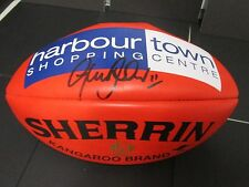 North Melbourne - Glenn Archer signed Red Sherrin Football - NMFC - Harbour Town