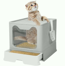 New listing Top Entry Cat Litter Box with Lid Foldable Plastic Litter Boxes Cats Toilet