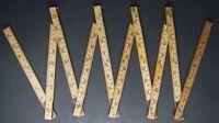 "HULTAFORS 61-2-10 Sweden Wood Brass Metal Folding Extension Ruler 2 Meters 78"""