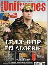 UNIFORMES N° 302 / LE 13e RDP EN ALGERIE - BOUCLES ALLEMANDES AVEC ETIQUETTE RZM