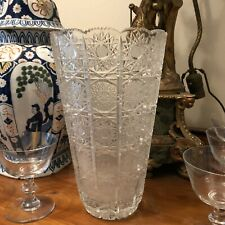 New ListingLovely Large Cut Crystal American Brilliant Vase