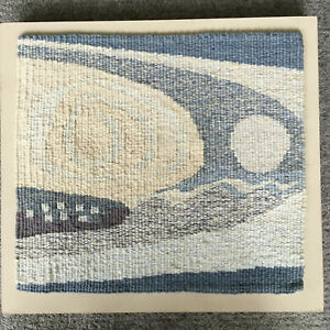 CONTEMPORARY WEAVING WOVEN TAPESTRY 'MOONSCAPE' by ROS BRYANT STROMNESS ORKNEY