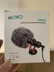 Movo VXR10 Universal Condenser Video Microphone with Shock Mount, Deadcat...