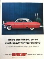 1954 Mercury Monterey Vintage Advertisement Print Art Car Ad Poster LG73