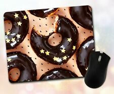 New listing Food Mouse Pad • Donuts Chocolate Stars Sweet Dish Gift Decor Desk Accessory