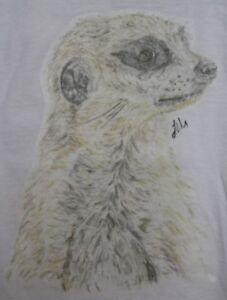 Childrens and Adult T-Shirt or Sweatshirt (Age 1-2 - XXL) Pastel Meerkat Design