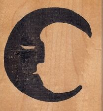 """half moon hot potatoes Wood Mounted Rubber Stamp 2 1/2x 3""""  Free Shipping"""