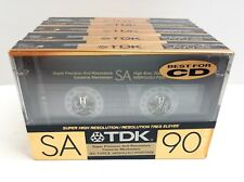 TDK SA 90 1989 VERSION HIGH BIAS AUDIO CASSETTE 5 TAPES NAKAMICHI AKAI SONY AIWA