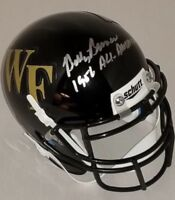 Billy Ray Barnes Signed Wake Forest Mini Helmet With JSA and Inscription