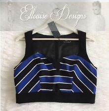 Striped Sleeveless V-Neckline Tops for Women