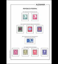 Hojas álbum República Federal Alemania 1949-1990 PDF DIGITAL en A4 y en 30x27cm