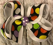 TaylorMade Custom Boutique Polka Dots Halloween Hair Bow New