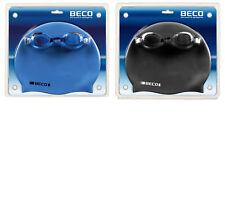 Beco Schwimmset 9905 Schwimmbrille+Silikonbadehaube für Erwachsene 100%UVAntifog