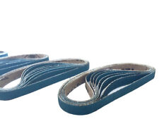 3/8 Inch X 13 Inch Zirconia Cloth Sanding Air File Belts (30 Pack, 60 Grit)