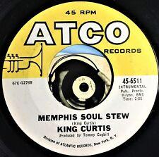 King Curtis 45 Soul 1967 Memphis Soul Stew Blue Nocturne Glossy Mint-