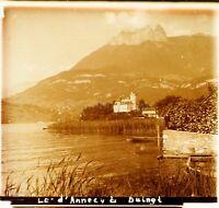 FRANCE Duingt Lac d'Annecy ca 1910, Photo Stereo Vintage Plaque Verre VR4L6