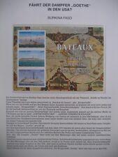 Irrtümer auf Briefmarken / Burkina Faso 1999 Mi 1638-1640 : Rheindampfer GOETHE