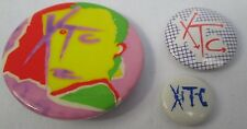 XTC 3 X Vintage 1979&82 Drums & Wires US Badges Pins Buttons Punk New Wave Punk