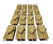 16 Pc Desert Army Battle Tanks Play Set