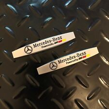 New - 2x Mercedes-Benz™ Powered by Chrome Fender Door Metal Emblem Badge Sticker