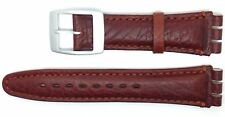 New Condor 19mm (22mm) Leather Strap Compatible for Swatch® Watch - Tan - SC14