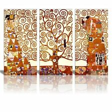 "Canvas Wall Art -Art Reproduction Tree of Life by Gustav Klimt- 36"" x 18"" x 3"