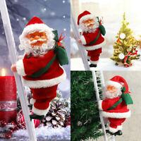 Père Noël Escalade électrique Fête de Noël Musique Figurine Décor Cadeau Jouet
