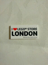 I Love LEGO Store London tile Rare and new 2x4