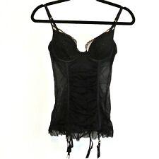 NWT Victoria's Secret Lingerie - Size 34C Black Sexy Bustier Garter Top