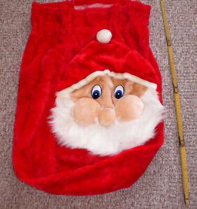 M) Weihnachtsmann Sack Jutesack Geschenkesack Weihnachtssack Santa rot ca. 70 cm