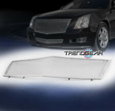 2008-2013 CADILLAC CTS FRONT UPPER HOOD STAINLESS STEEL MESH GRILLE GRILL CHROME