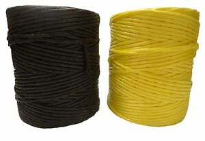 4mm Polypropylene 1kg Twine Spool Black Yellow String Office Garden Crafts Cord