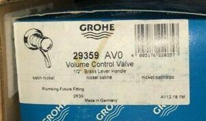 GROHE 29359AV0 Grohmix Concealed Valve Trim Satin Nickel