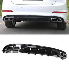 Rear Bumper Dual Muffler Diffuser For 2017 2018 Hyundai Elantra AD