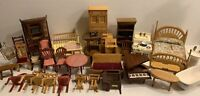 Lot of Vintage Miniature Doll House Wood Furniture for Parts or Repair