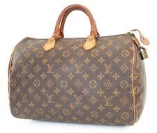 Authentic LOUIS VUITTON Speedy 35 Monogram Boston Handbag Purse #39413