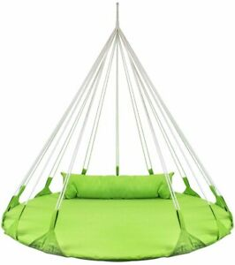 Sorbus Hanging Swing Nest Pillow, Double Hammock Daybed Saucer Style Lounger