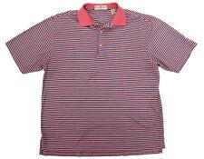Vintage Mens Golf Polo Fairway & Greene Short Sleeve Pink Navy White Striped L