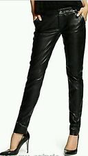$598 GUESS BY MARCIANO LAMB LEATHER SKINNY LEGGINGS PANTS JEANS