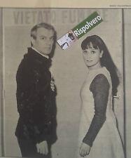 RITAGLI FOTO CLIPPING ANNO 1964 ANNAMARIA GUARNIERI E GIORGIO ALBERTAZZI