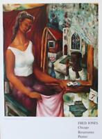 FRED JONES, Chicago Renaissance Painter, Poster