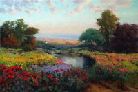 Wall Art Print Wild landscape Oil painting Giclee Printed on canvas P297