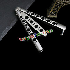 High Quality Practice BALISONG METAL BUTTERFLY Steel Trainer Knife with Sheath
