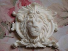 New! Classy French Lion and Shield Furniture Applique Architectural Onlay