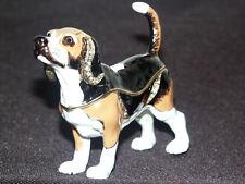 Beagle Hund Schmuck Objekt Pillendose Ring Schatulle Rassehund Etui Geschenk