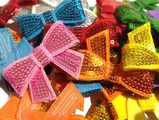 "10 x Sequin Bows 2"" Assorted Mixed Colours"