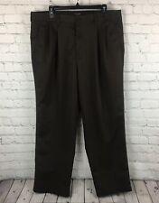 Dockers Men's 38 X 29 Dress Pants Brown Chino Pleated Full Length