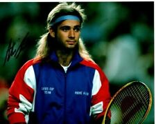 ANDRE AGASSI Signed Autographed TENNIS Photo