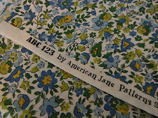 ABC 123 Range. American Jane for Moda fabrics. Green and Blue floral